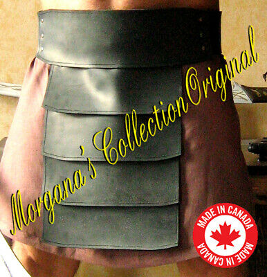 Medieval Gladiator Barbarian Leather Belt Armor