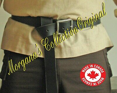 Medieval Knight Long Belt with Square Metal Buckle
