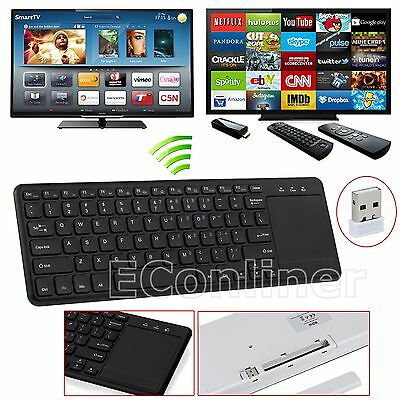 2.4G Wireless QWERTY Mini Keyboard Remote Touchpad Android TV box XBMC PC Tablet