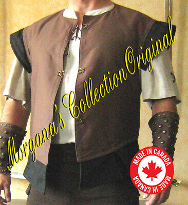 Medieval Knight Sleeveless JustauCorps Doublet Jacket with Wings