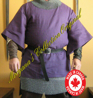 Medieval Knight Men-at-arms Short Surcoat with Wide Sleeves