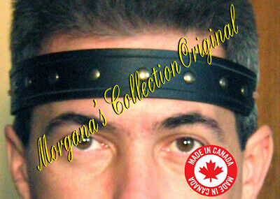 Medieval Barbarian Gladiator Squire Leather Headband