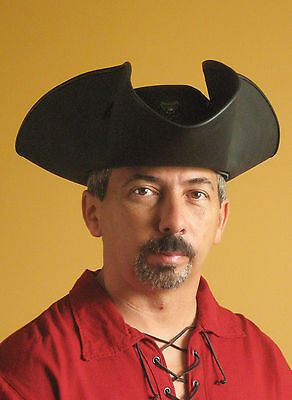 Medieval Renaissance SCA Larp Tricorn Pirate Captain Big Hat - Serie Black Flag
