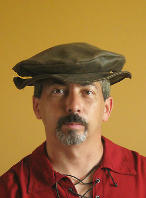 Medieval Celtic Renaissance SCA Larp Borgias Italian Leather Hat