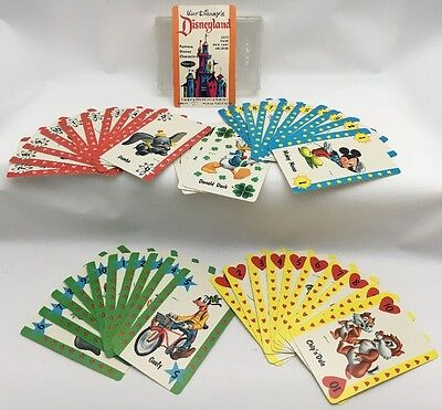 Vintage 1964 Disneyland Famous Disney Characters Whitman Card Game Complete