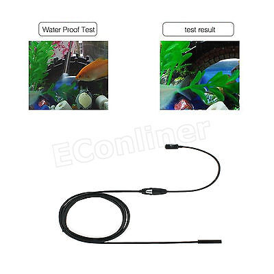 Waterproof 7mm 6LED Android Endoscope Borescope Snake Inspection Camera 2M