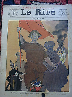 LE RIRE N°39 27 septembre 1919 N° SPECI couv ROUBILLE Old french lampoon paper