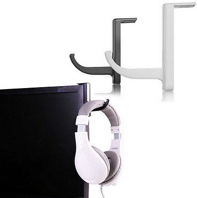 Black useful Headphone Headset Holder Hanger Wall PC Monitor Stand for Sony new