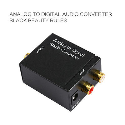 Analog L/R to Digital Optical Toslink SPDIF Coaxial RCA Audio Stereo Converter