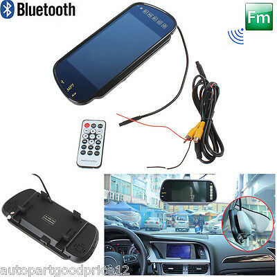 "7"" TFT LCD Color HD Car Rear View Backup Mirror Monitor MP5 Bluetooth FM SD USB"