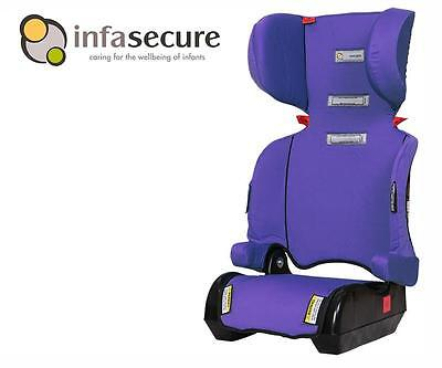 Infa Secure Versatile Folding Booster Car Seat 4-8 years Kid Child Infant Purple