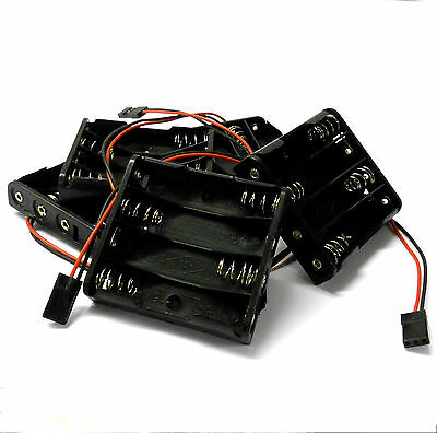 C1203-1x5 RC Battery Holder Case Box Pack 4 x AA JR 3 Pin x 5