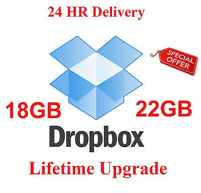 Dropbox New Account Lifetime 18GB Official Network Storage Online