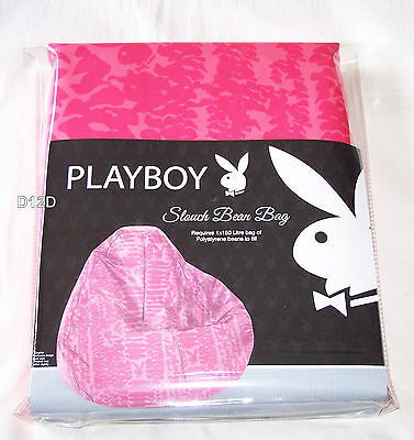 Playboy Bunny Pink Printed Slouch Bean Bag Cover New