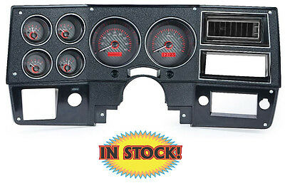 Dakota Digital 1973-87 Chevy and GMC Pickup Gauge Kit Carbon/Red VHX-73C-PU-C-R