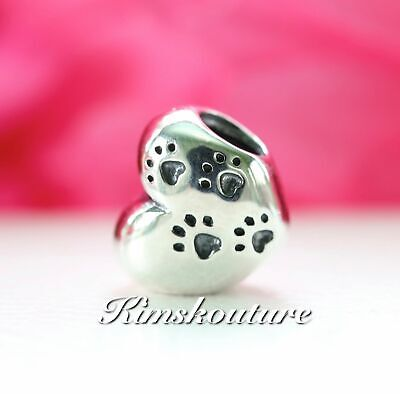 Authentic Pandora My Sweet Pet Paw Charm, Sterling Silver,I Love My Pet #791262