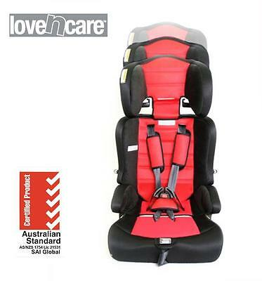 New Love N Care Triton Booster Car Seat Kid Child Infant 6mths - 8 years Red
