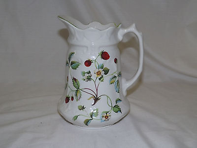 James Kent Old Foley Staffordshire  Strawberry Water Pitcher
