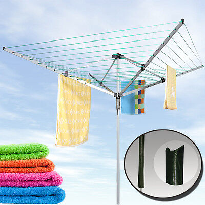 50M Outdoor Heavy Duty Steel Sturdy Rotary Airer Drier Laundry Washing Line