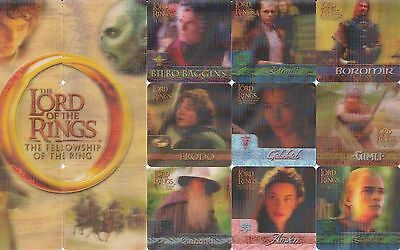 Lord Of The Rings Fellowship Ring Movie 3D Action Flipz 2002 Base Card Set Of 60