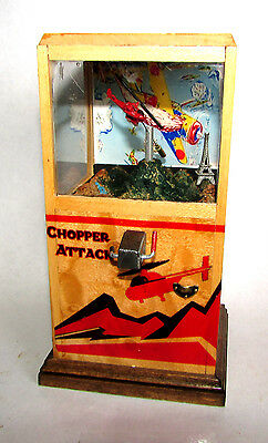 Scary Miniatures Hand Made OOAK 1/12 scale Chopper Attack Vintage Arcade Machine