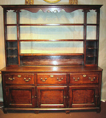 Antique English or Welsh Oak Dresser Circa 1750