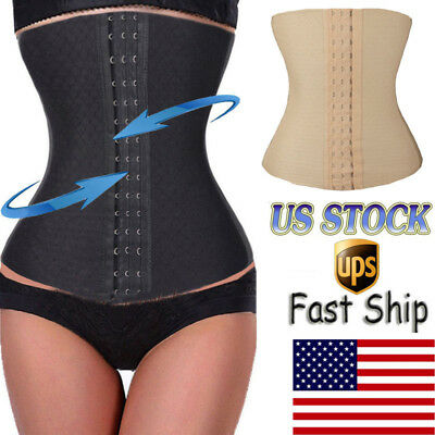 Women Waist Trainer Corset Body Shaper Cincher Tummy Trimmer Stomach Girdle Belt