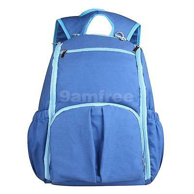 Blue Baby Diaper Nappy Bags Backpack Changing Bags Multifunction Mummy Bag