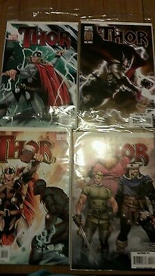 Lot of 4 Thor comic books; Issue 1-4; Marvel