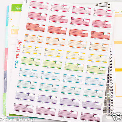 MONTHLY WEEKLY PAY DAY BILL DUE DATE CHECK EC Planner Stickers Erin Condren R19