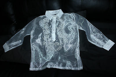 Barong Tagalog For Boys Size 14 May Fit To 8-9 Years Old Boys