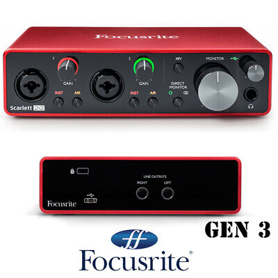 Focusrite Scarlett 2i2 2nd Gen Audio Interface USB Protools and Abelton Live