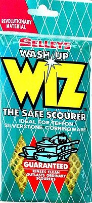 SELLEYS WASH UP WIZ NEW Wiz THE SAFE SCOURER For Daily Use-FREE SHIPPING