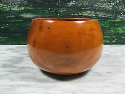 Antique Hawaiian Monarchy Turned Carved Kou Wood Calabash Bowl Old Hawaiiana