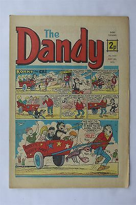 The Dandy 1651 July 14th 1973 Vintage UK Comic Korky The Cat Desperate Dan