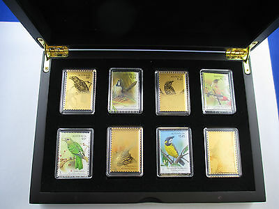 2009 Australia Songbirds 9ct Gold foil Stamps in Case - Song Bird Collection