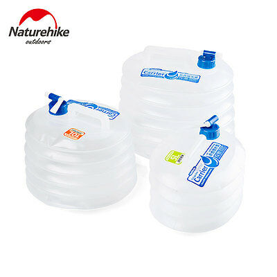 Naturehike Outdoor Collapsible Bucket Water Container PE Car Storage  with Tap