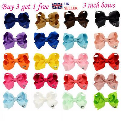 Handmade Bow Hair Clip Alligator knot Clips Girls Ribbon Kids Sides Accessories