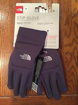 The North Face men's grey ETIP Touch Screen Gloves S L XL