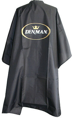 Denman DSW1 Nylon Hairdressing Barbers Cape Adult Salon Hair Cut Black Gown
