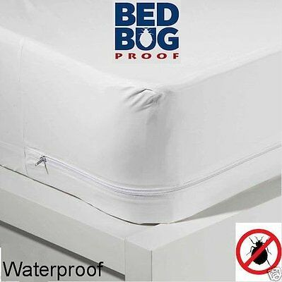 """Bed Bug KING 16"""" Ht VINYL ZIPPERED Mattress Cover - Allergens/Dust Mites STRONG"""