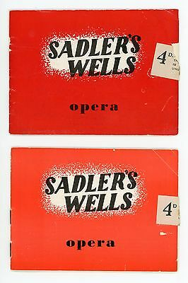 2 Sadler's Wells Opera programmes 1949 and 1950, Tosca and Madam Butterfly.