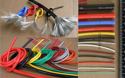 1M Flexible Soft Tinned OFC Copper Silicone Wire RC Cable UL 2AWG-30AWG