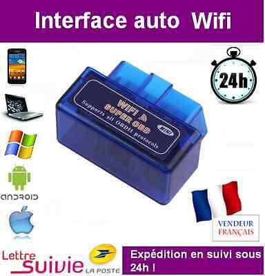 Super Mini Wifi Obd2 Obd - Iphone Android Voiture - Elm Scanner Multimarques