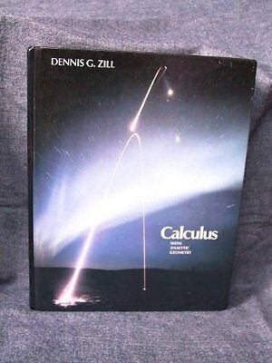 Used gd advanced engineering mathematics by dennis g zill used gd calculus with analytic geometry by dennis g zill fandeluxe Gallery