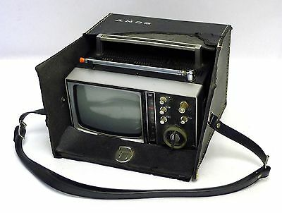 Vintage Sony 5-307UW All Channel Transistor Television TV Receiver with Case