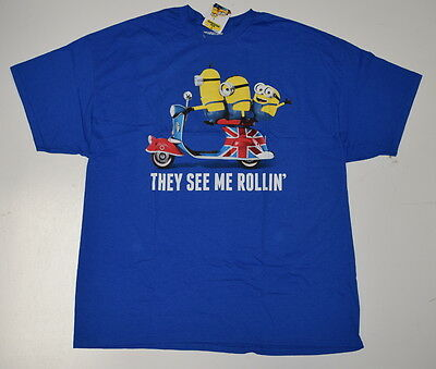 New Licensed Minions They See Me Rollin T Shirt 2XL-5XL UK Despicable Me funny