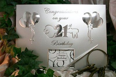 21st Birthday Silver Party Guest Book | Gift | Present | Keepsake