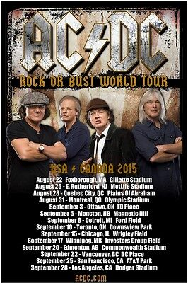 AC/DC 2015 box office CONCERT POSTER North America