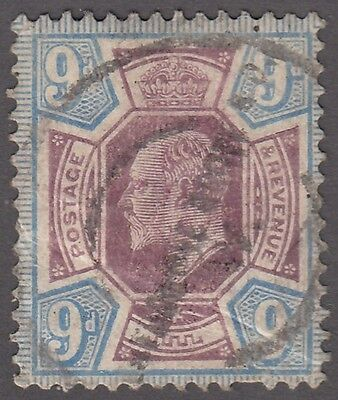 "Great Britain SG #307  9d  purple and blue  ""KE VII"""